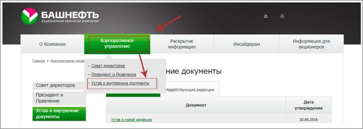 Официальный сайт ПАО Башнефть