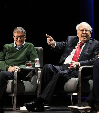Уоррен Баффет с Биллом Гейтсом