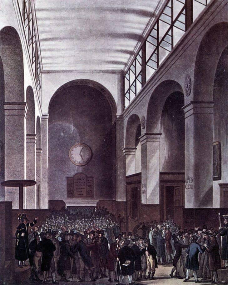 Лондонская фондовая биржа, 1810 г.[2
