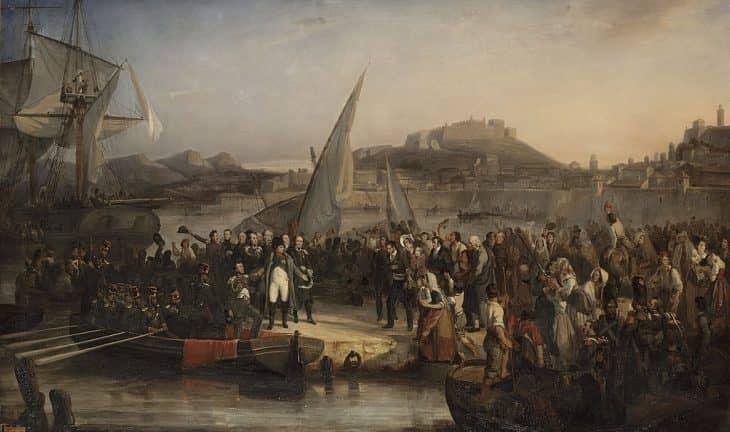 «Наполеон покидает Эльбу» картина Жозефа Бома