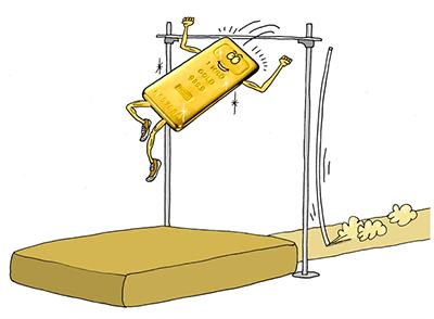 Золото карикатура